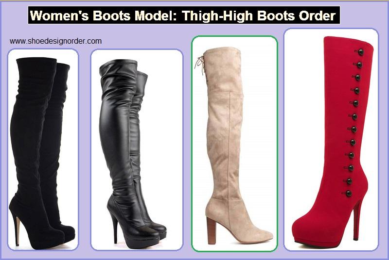 Women's Boots Model: Thigh-High Boots Order