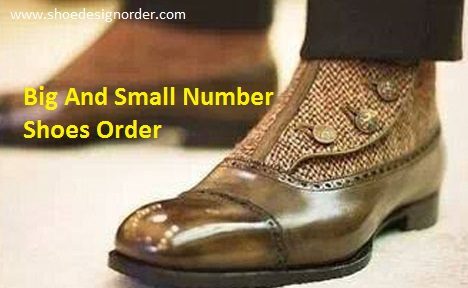 Big And Small Number Shoes Order
