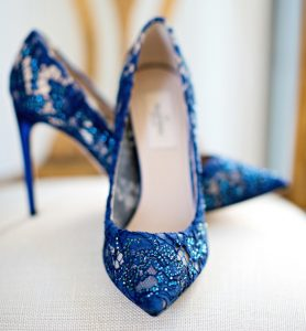 blue lace stiletto