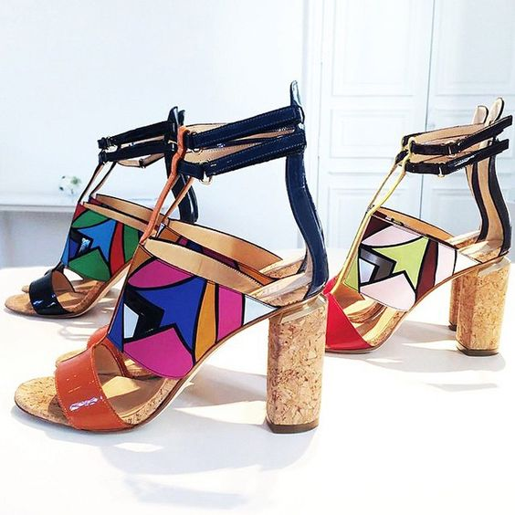 Colorful Summer Shoes with Geometric Patterns