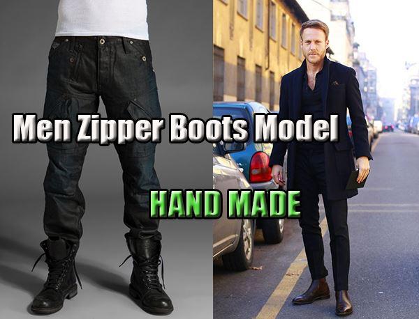 Men Zipper Boots Model – Special Boots Hand Made