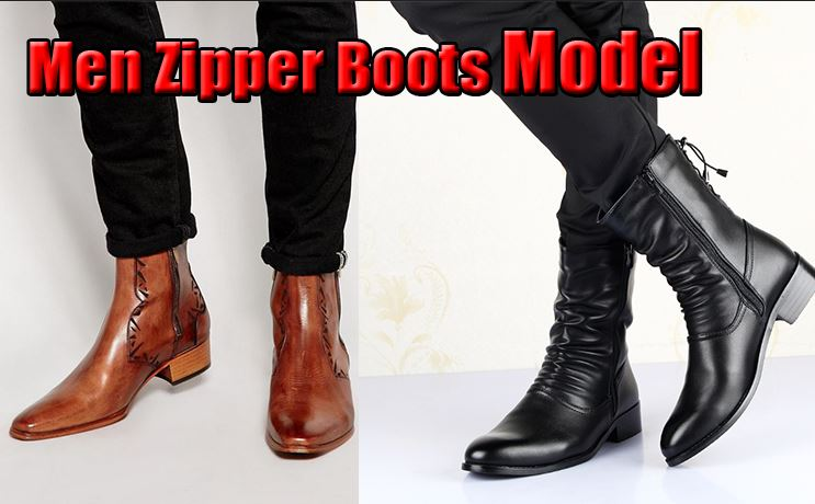 Men Zipper Boots Model
