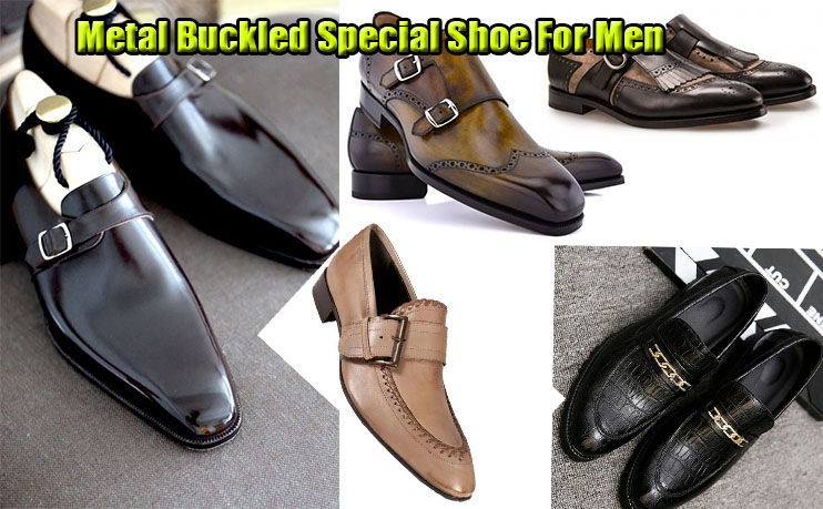 Metal Buckled Special Shoe For Men