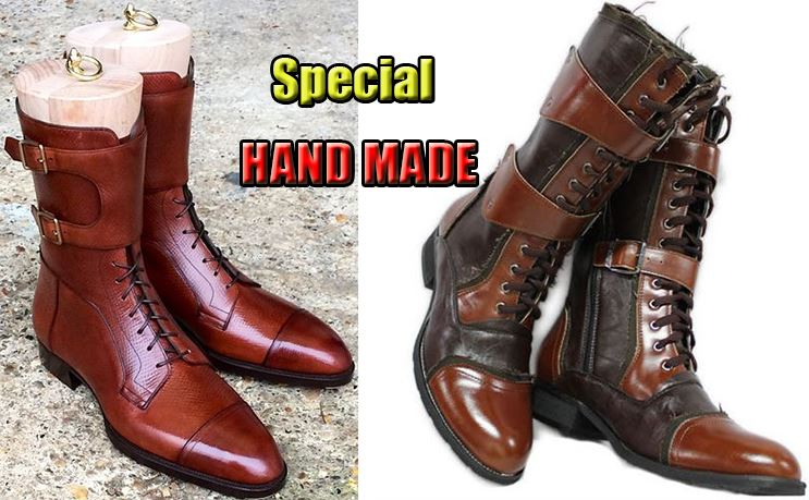 Men Zipper Boots Model - Special Handmade